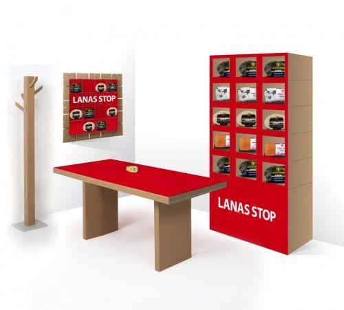 Mobiliario de cartón y expositores para tiendas
