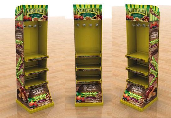 Expositor de cartón de productos para comida Ecológica.