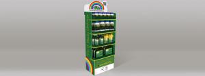 Expositor de pie en cartón para productos bio ecológicos
