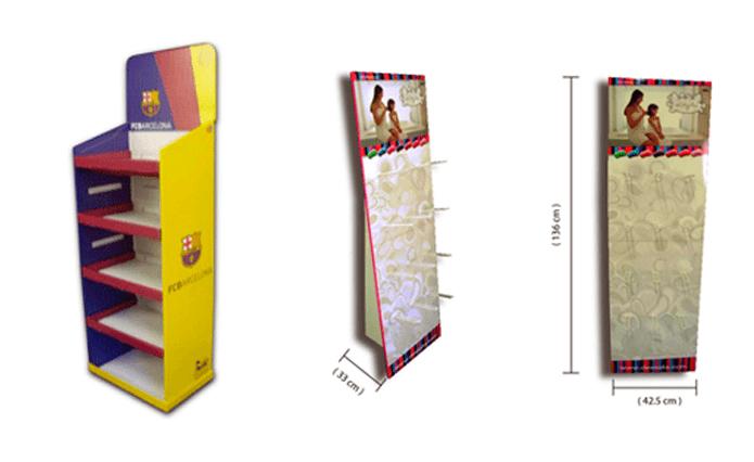 Tipos de expositores de cartón; Expositores de Pie