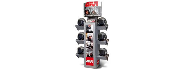 Expositor para tiendas de Cascos Moto Givi