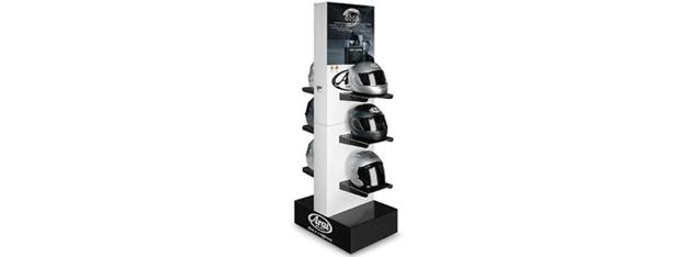 Expositor para tiendas de cascos de Moto