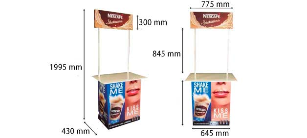 Expositor mesa degustación Nescafé