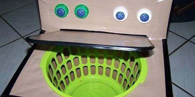 cardboard-lavadora