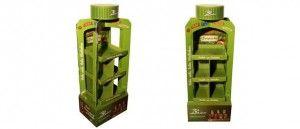 Expositores de pie para productos y bebidas de alimentación ecológicos