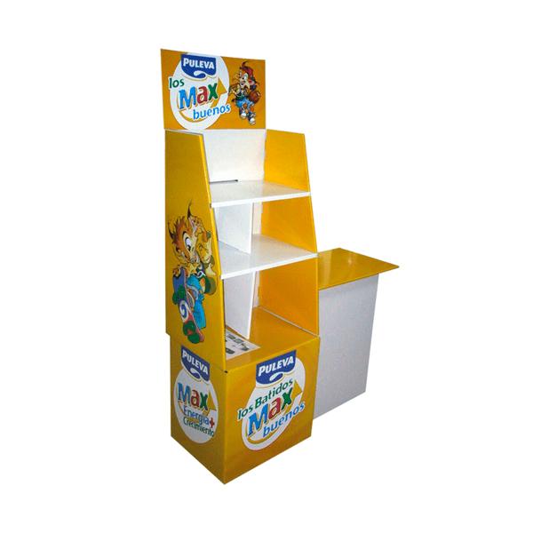 Box Palet Cartón Puleva con Mesa Degustación - Garoo ®️