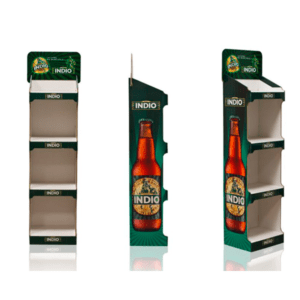 expositores de la cerveza Indio en Garoo