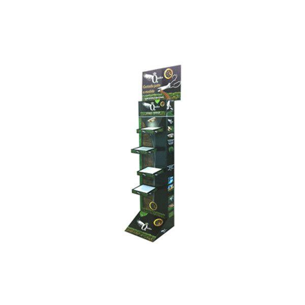 Tótem de cartón para para exponer productos en tienda