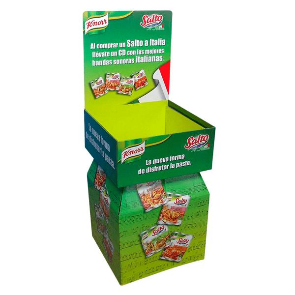 Expositor Box Palet grandes superficies productos de alimentación