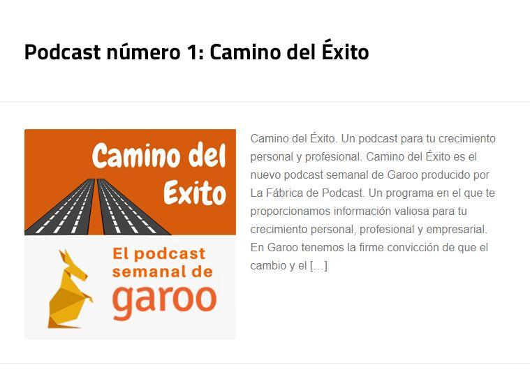 Podcast número 1: Camino del Éxito (Vídeos y enlaces completos)