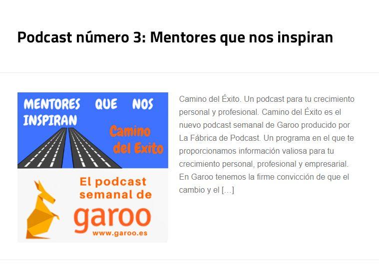 Podcast número 3: Mentores que nos inspiran