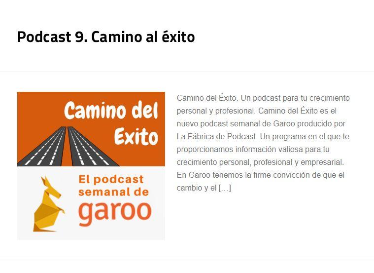 Podcast n. 9 Camino al éxito