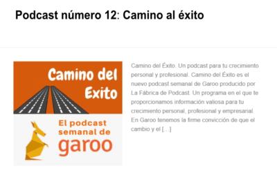 Podcast 12. Camino del éxito