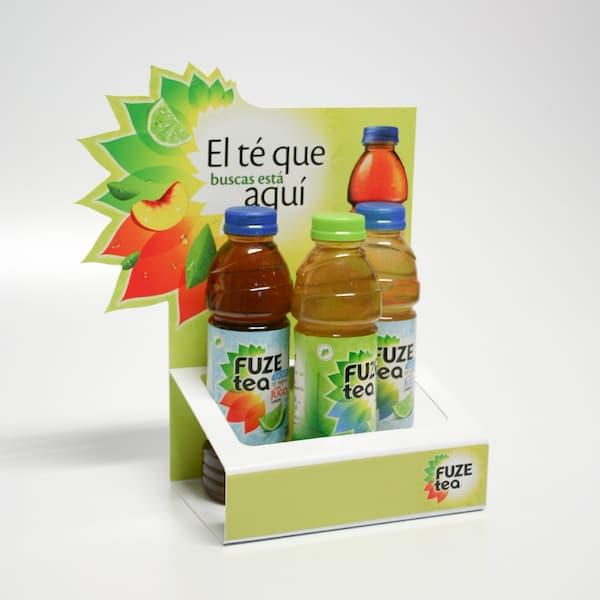 Display carton sobremesa para bebidas - Garoo - Expositores de Carton