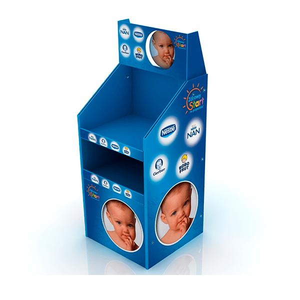 Box palet dos alturas carton alimentacion niños - Garoo - Expositores de Carton