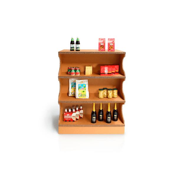 Expositor mueble tienda kraft estanterias carton - Garoo - Expositores de Carton