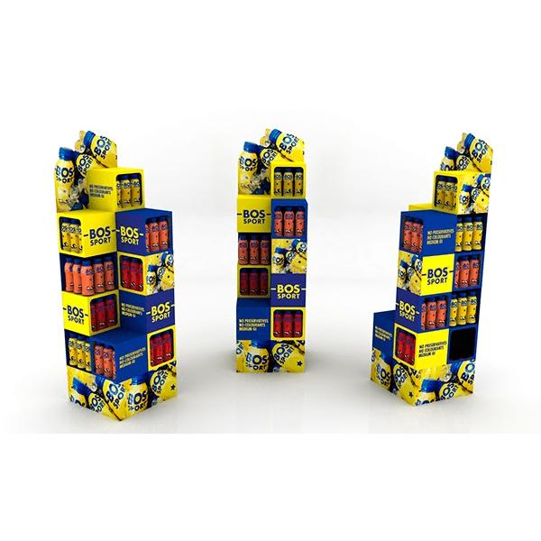 Expositor de pie bebidas energéticas - Garoo - Expositores de Carton