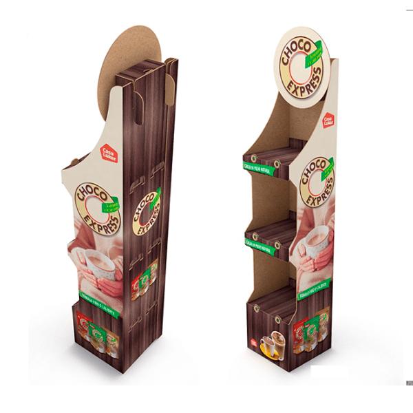 Expositor pie carton choco express - Garoo - Expositores de Carton