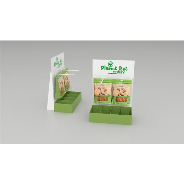 Expositor sobremesa con ganchos comida perros - Garoo - Expositores de Carton