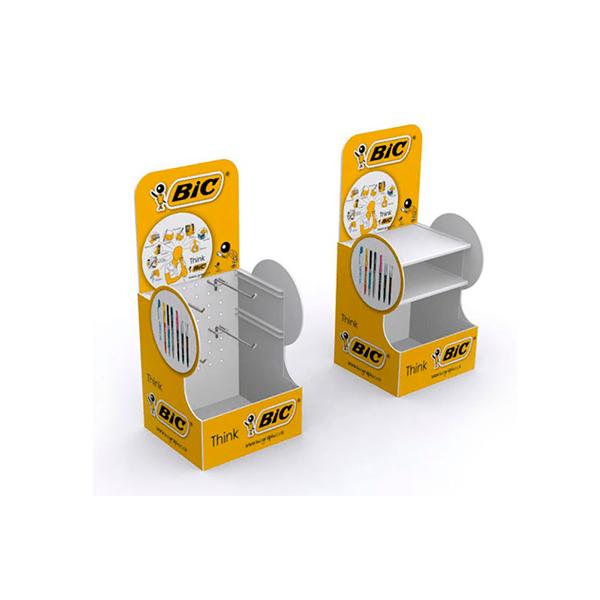 Expositor sobremesa mostrador ganchos estantes bic - Garoo - Expositores de Carton
