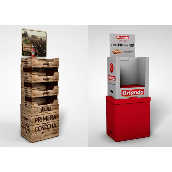Expositores de cartón Heinz orlando - Garoo - Expositores de Carton
