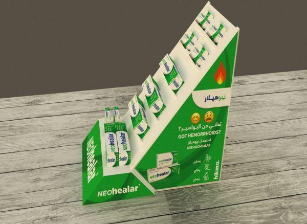 Display cosméticos inhalador Garoo Expositores de Carton