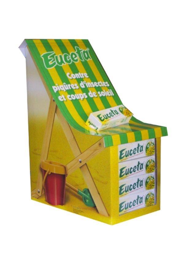 Expositores para cosmética cremas solares Garoo Expositores de Carton